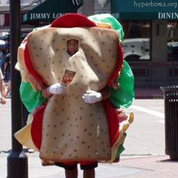 Человек-бутерброд